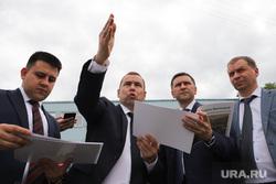 Министр природных ресурсов  Дмитрий Кобылкин осматривает набережную Тобола. Курган, шумков вадим, кобылкин дмитрий