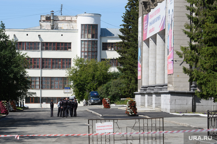 Центр Екатеринбурга перед приездом Владимира Путина