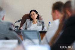 Наталья Котова, врио мэра Челябинска, на аппаратном совещании. Челябинск, котова наталья