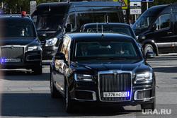 Проезд кортежа президента России Владимира Путина по улицам Екатеринбурга. Екатеринбург