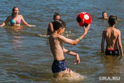 Разное. Курган  , пляж, лето, игра в мяч, дети в воде, отдых, купание