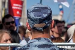 Митинг Либертарианской партии против пенсионной реформы. Москва, уши, полицейский, росгвардеец