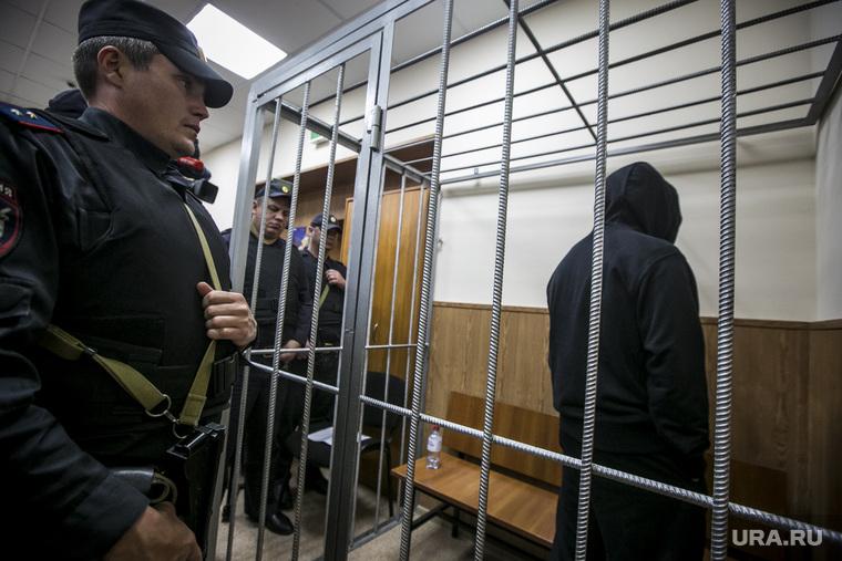 Криминальный авторитет Олег Шишканов на судебном заседании по избранию меры пресечения Басманным районным судом г. Москвы. Москва