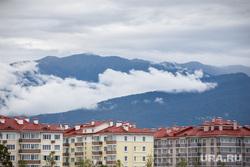 Сочи, облака, недвижимость, отели, горы