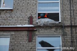 Вывоз мусора из квартиры на Крупской 43. Пермь, мешок с мусором, окно