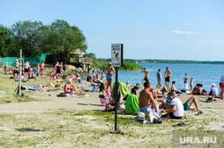 «Путинский» пляж на озере Смолино. Челябинск, купаться запрещено, лето, жара, отдых на воде, пляж, озеро смолино