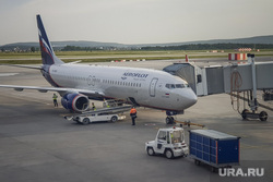 Зал ожидания аэропорта «Кольцово». Екатеринбург, багаж, погрузка, телетрап, аэрофлот, авиалайнер, авиакомпания, взлетное поле, боинг 737-800, vq-bhw, федор плевако, пассажирский рукав