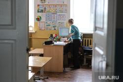 Визит врио губернатора Шумкова Вадима в Каргапольский район. Курган, учитель, класс, каникулы, школа, пустой класс