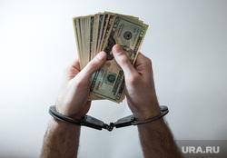 Клипарт по теме Деньги, банковская карта, взятка. Сургут, руки в наручниках, финансовое преступление, взятка, наручники, доллары, деньги, финансовое рабство