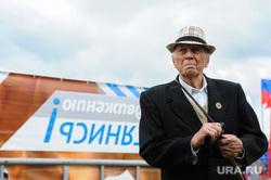 Сдача норм ГТО, активное долголетие, пенсионеры. Челябинская область, Миасс, пенсионер, шляпа