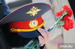 Кладбище. Похороны.Архив. Челябинск., цветы, фуражка, милиция, полиция