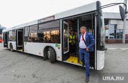Презентация газомоторных автобусов прибывших на тест-драйв. Челябинск, водитель автобуса, автобус, городской транспорт