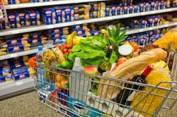 Клипарт depositphotos.com, продуктовый магазин, еда, продуктовые полки, продукты питания, тележка с продуктами