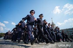 Полиция на Площади 1905 года. Екатеринбург, марш, парад, дпс