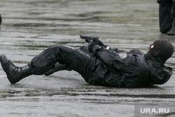 День пограничника. Курган, спецназ, пистолет, стрельба лежа
