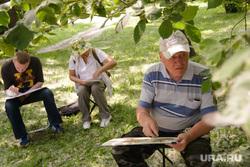 Тополиный пух в Екатеринбурге, пенсионер, дедушка, рисование, художник