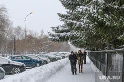 Снегопад в Кургане., город в снегу
