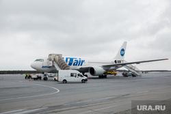 Первый полёт самолета «Виктор Черномырдин» (Boeing-767) авиакомпании Utair из аэропорта Сургут , utair, ютэир, самолет, боинг 767, ютейр