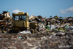 Клипарт. Сургут, отходы, свалка, полигон тбо, мусорка, бульдозер на свалке, мусорный полигон, экология
