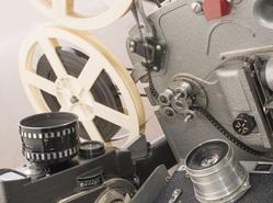 Клипарт депозитфото, кино, объектив, кинопленка