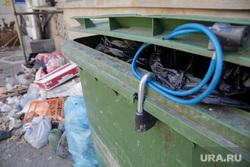 Виды Перми, мусор, замок, мусорный контейнер, мусорка, грязь, помойка