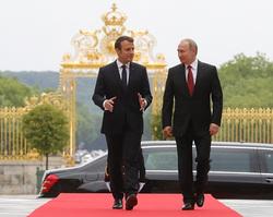Клипарт. Сайт президента России, путин владимир, макрон эмманюэль