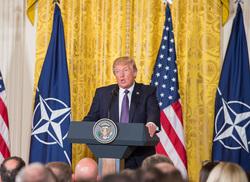 Клипарт. Официальный сайт  «НАТО». Екатеринбург, флаг сша, выступление с трибуны, трамп дональд, флаг нато, столтенберг йенс