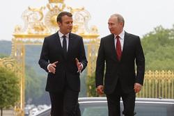 Клипарт. Сток Сайт президента России, путин владимир, макрон эмманюэль