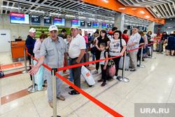 Пресс-тур в Уфу по объектам, построенным к ШОС и БРИКС в 2015 году. Уфа, стойка регистрации, регистрация на рейс, задержка рейса, аэропорт, пассажиры