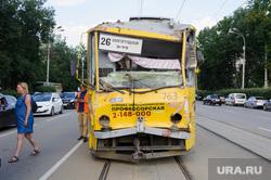 Столкновение трамваев. Екатеринбург, общественный транспорт, трамвай