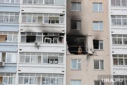 Последствия взрыва бытового газа в многоквартирном жилом доме в Перми на ул. Разина , взрыв газа, копоть, разрушенный дом
