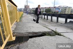 Аварийное состояние Некрасовского моста. Курган, пешеходы, мост, некрасовский мост