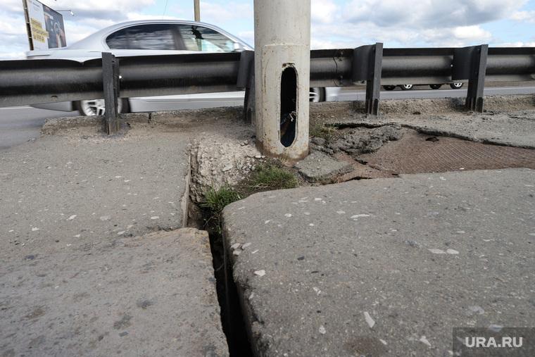 Аварийное состояние Некрасовского моста. Курган