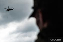 Этап специальных учений материально-технического обеспечения на станции Адуй. Свердловская область, вертолет, военные, силуэт, военные действия