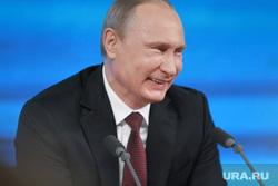 Подробно. Пресс-конференция с участием президента РФ Владимира Путина. Москва, смех, портрет, путин владимир