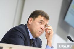 Пресс-конференция  губернатора Свердловской области Евгения Куйвашева в конгресс-центре по итогам «Иннопром 2019», куйвашев евгений, портрет