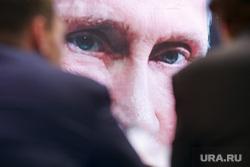 Санкт-Петербургский международный экономический форум. Второй день. Санкт-Петербург, монитор, путин на экране