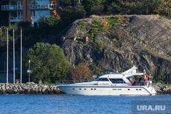 Виды Стокгольма. Швеция, яхта