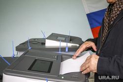 Выборы в Тюмени. Тюмень, кабинки для голосования, коиб, бюллетени, избирательный участок, голосование