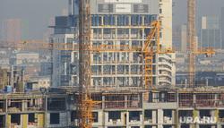 Виды Екатеринбурга, строительный кран, русская медная компания, недвижимость, новостройка, стройка, рмк