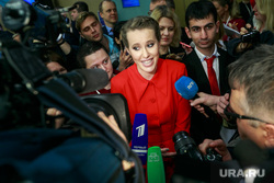 Ежегодная итоговая пресс-конференция президента РФ Владимира Путина. Москва, собчак ксения, портрет