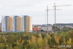 Виды полуострова Малый конный. Екатеринбург, строительный кран, новостройка, строительство, виз правобережный