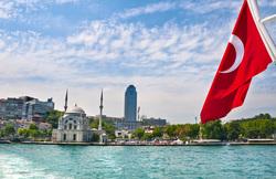 Клипарт depositphotos.com, море, турция, религия, стамбул, флаг турции, достопримечательности турции, площадь долмабахче от босфор