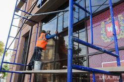 Реконструкция исторического здания на площади Революции 1. Челябинск, фасад здания, реконструкция здания, музей изобразительных искусств, ремонт дома, площадь революции1