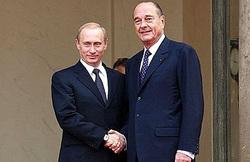 Клипарт. Сток Сайт президента России, путин владимир, ширак жак