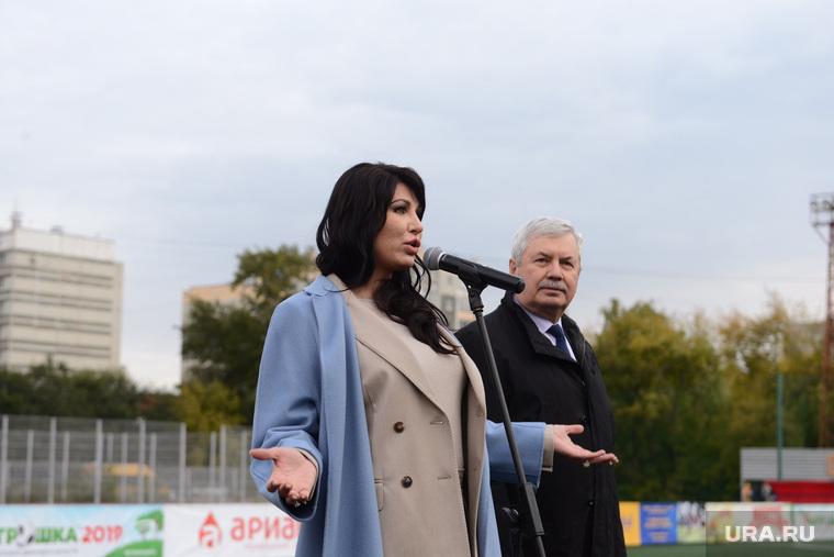 Ирина Текслер на фестивале детского дворового футбола Метрошка. Челябинск