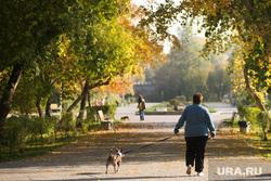 Осенний Екатеринбург, парк, прогулка с собакой, осень