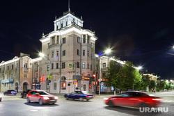 Подсветка на улицах Кургана. Курган, город курган, вечернее освещение, иллюминация, машины, подсветка, улицы кургана
