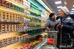 Супермаркет. Челябинск, продукты, покупатели, пенсионерки, молочная продукция, продуктовая корзина, магазин, супермаркет