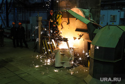 Открытие литейного цеха на Курганском арматурном заводе. Курган, литейный цех, курганский арматурный завод, разливка металла